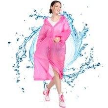 Fishing Suit PEVA Men Women fishing coat Thickened Waterproof shirt Rainproof Coat Hoodedwith Drawstring Camping