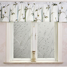 1 Roll Frosted Privacy Floral Pattern Window Film Home Bedroom Bathroom Glass Window Film Stickers No Glue Self Adhesive Sticker luckyyj3d glue free frosted electrostatic self adhesive glass sticker toilet translucent privacy protection,window film sticker