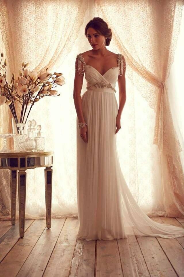 Elegant V Neck Wedding Dresses Cap Sleeve 2015 Women Bridal Gowns Open Back Vestido De Noiva
