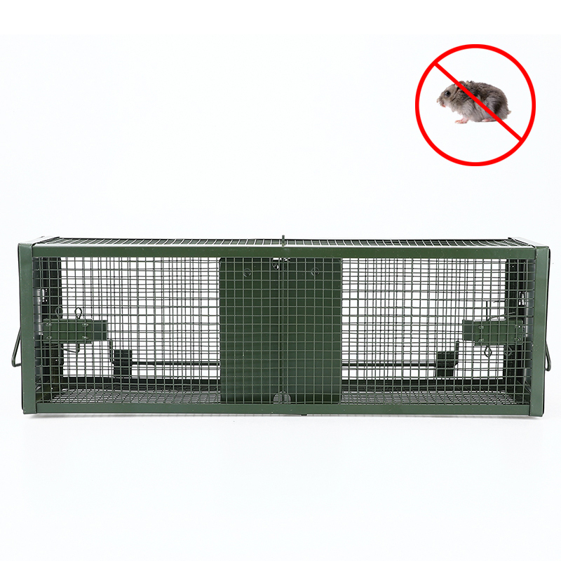Reusable Double Door Catching Mice Traps Mouse Bait Snap Rodent Catcher Mice Mousetrap Hunt Rat Cage Single Mice Rodent Cage image