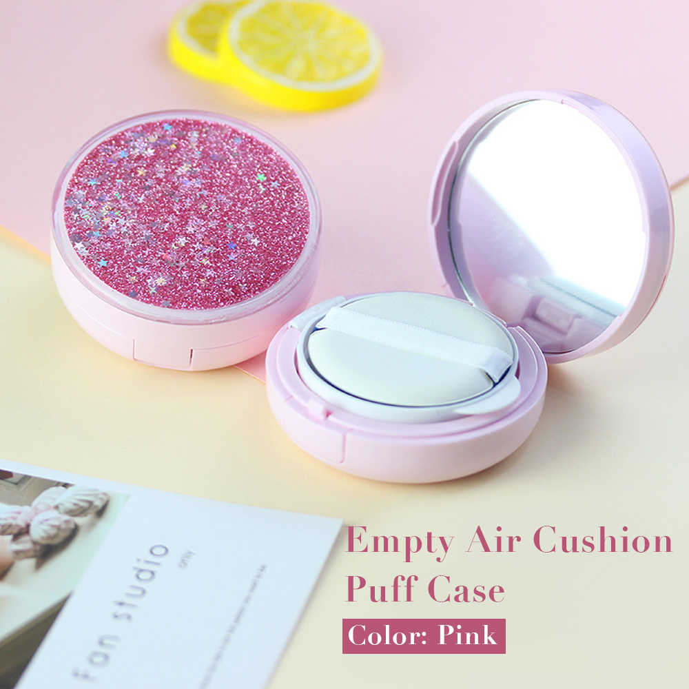 15g Pink Empty Portable Air Cushion Puff Container Dressing Case Powder Box