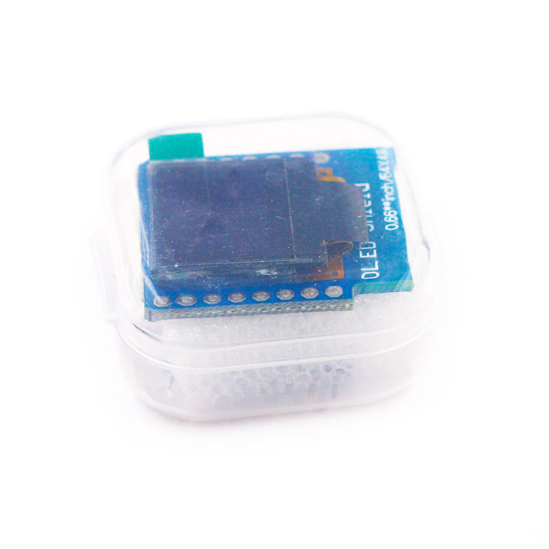 0.66 Inch OLED Display Module For WEMOS D1 MINI ESP32 Module AVR STM32 64x48 0.66