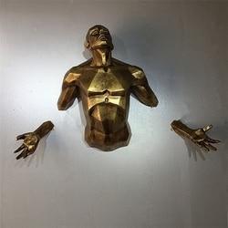 Античная Новая современная скульптура персонажа Ангел человек настенная подвесная Статуэтка домашное украшение ручной работы Европейска...