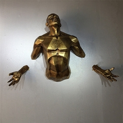 Antico Nuovo moderna scultura personaggio angelo uomo appeso a parete figurine della decorazione della casa artigianato Europeo retro scultura a parete