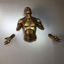 Antigo novo personagem moderno escultura anjo homem parede pendurado estatueta decoração para casa artesanato retro europeu escultura