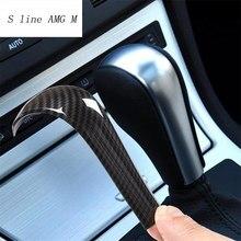 Autocollant de poignée de changement de vitesse en fibre de carbone, garniture de protection pour BMW série 5 E60 X3 E83 6 série E63 X5 E53, accessoires