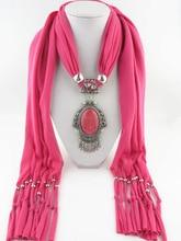 купить Red resin mirror jewelry pendant scarf classic national style gem pendant tassel scarf lady jewelry scarf pendant scarf дешево