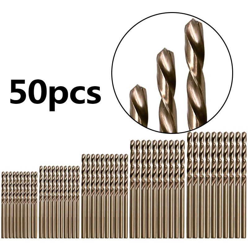 for drilling Jewelry stainless steel plate Metal HSS-CO Combination Tools Cobalt 1.0-8.0mm Twisted Drill Bits Cobalt Drill Bits