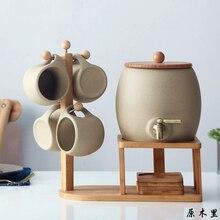 Чайник для холодной и горячей воды, керамический костюм, большая емкость, высокая термостойкость, чайник для сока, домашняя кружка, посуда для напитков, для дома