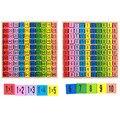 99 таблица умножения математика игрушка Детские деревянные игрушки 10*10 фигура блоки Детские Обучающие Монтессори подарки Детские игрушки