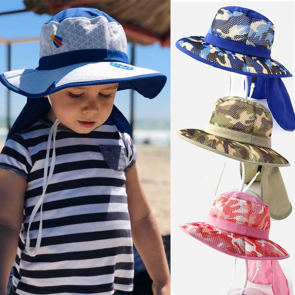 Decentron Kids Safari Hat UPF 50 Sun Protective Cap Boys Bucket Hat with Flap