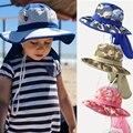 Летняя Солнцезащитная шляпа для мальчиков и девочек с защитой от УФ-лучей, Пляжная Панама унисекс с шармами для маленьких девочек