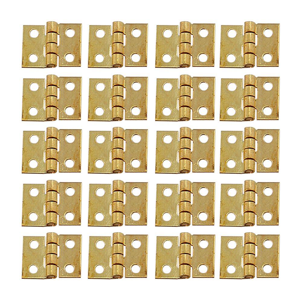 30pcs 10*8mm Mini Metal Hinge Golden For 1/12 House Miniature Cabinet Furniture Brass Hinge Dollhouse Miniature Cabinet Closet