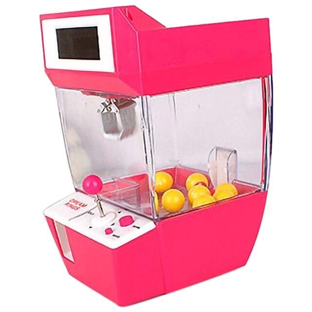 Lalka pazur maszyna Mini automat automat automat z cukierkami Grabber Arcade pulpit złapany zabawa muzyka śmieszne zabawki gadżety dla dzieci
