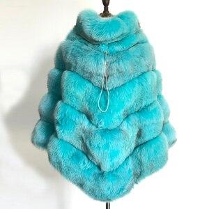 Image 3 - BFFUR Echtpelz Fuchs Mantel Für Frauen Top Qualität Natürliche Pelz Mantel Ponchos und Capes Ganze Haut Bedeckt Frauen Winter mode Mäntel