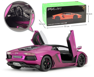 Image 4 - WELLY Diecast 1:18 Yüksek Simülatörü Modeli Araba Lamborghini Aventador LP700 Metal Araba Yarışı Alaşım Oyuncaklar Çocuklar Için Hediyeler Koleksiyonu