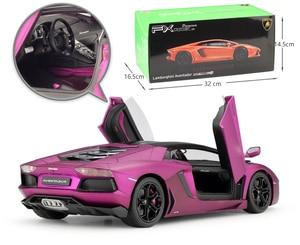 Image 4 - Welly diecast 1:18 높은 시뮬레이터 모델 자동차 람보르기니 aventador lp700 금속 레이싱 자동차 합금 완구 어린이 선물 컬렉션