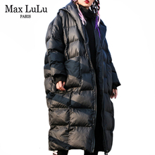 Max Lulu 2019 Warm Fashion Koreaanse Dames Winter Jas Vrouwen Hooded Lange Oversized Gewatteerde Jassen Vintage Thicken Parka Plus Size