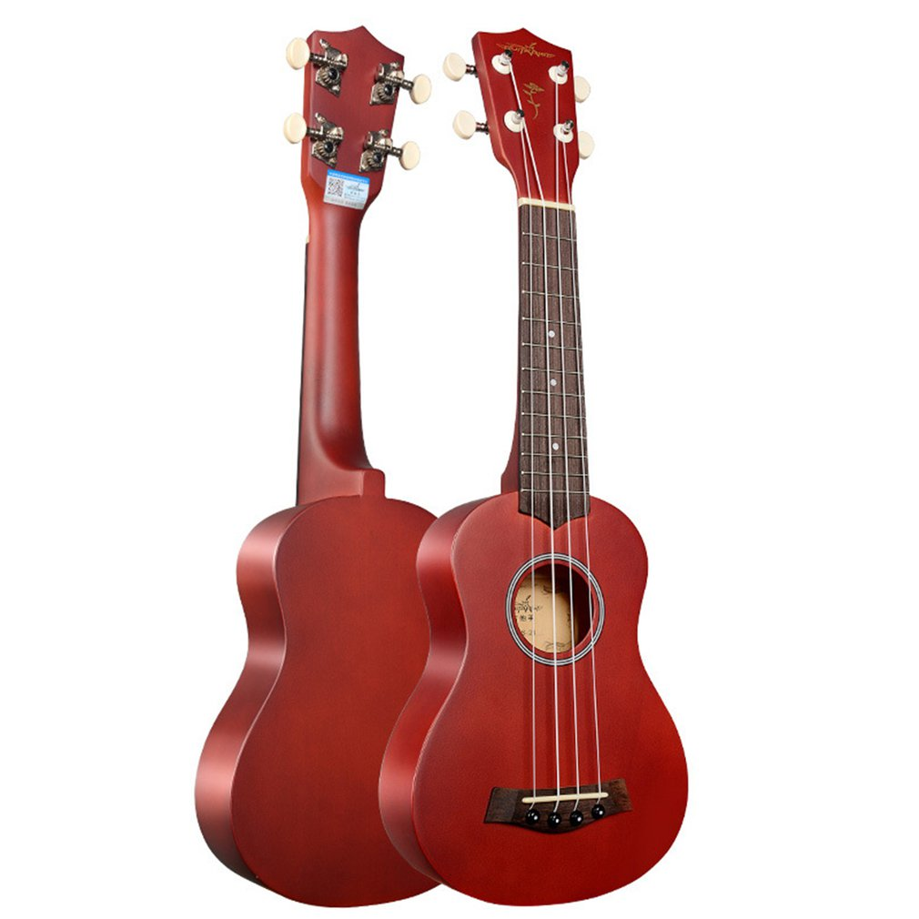 21 Inch Basswood Ukulele Musical Instruments Light Weight Small Body Hawaii Guitar For Ukulele Lovers