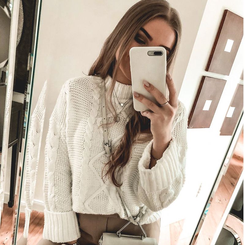 Conmoto 2019 Winter Knitwear Women Sweater Knitted Solid White Casual Female Pullovers Autumn Lady Oversized Sweater Jumper
