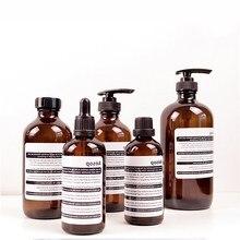 Glass Soap Shampoo bottle Storage Liquid Nordic Lotion Dropper Emulsion Storag Bottle Organizer Decor bathroom accessories Glass