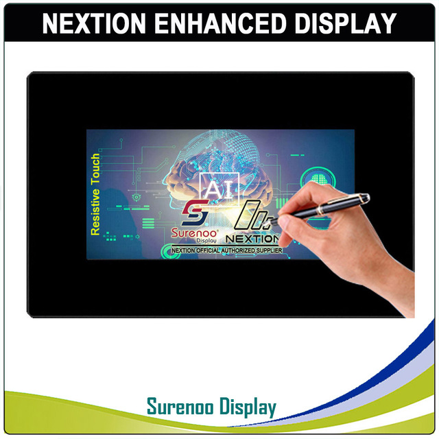 """7.0"""" Nextion Enhanced HMI USART UART Serial TFT LCD Module Display Resistive Capacitive Touch Panel w/ Enclosure"""