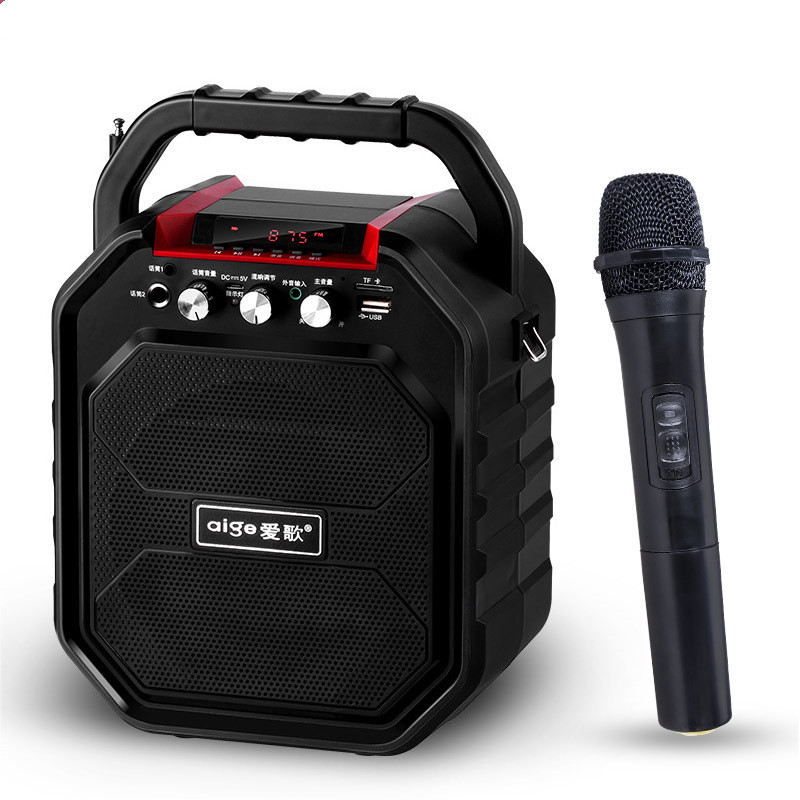 S28 Outdoor Bluetooth Audio Portable Karaoke High Power Square Dance Speaker Support Remote Control FM Radio MIC TF AUX USB