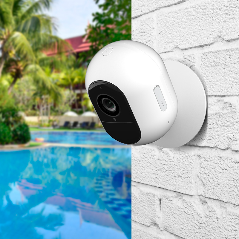 YI Kami 1080P Wire-Free Ip Camera Kit Wireless Outdoor Battery Security Camera Motion Detection Night Vision Two-Way Audio