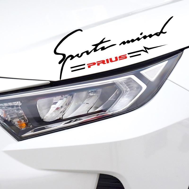 Автомобильная отражающая лампа, наклейка для бровей, Накладка для фар, сменная Наклейка для Toyota Prius auris hilux, автомобильные аксессуары, автомо...