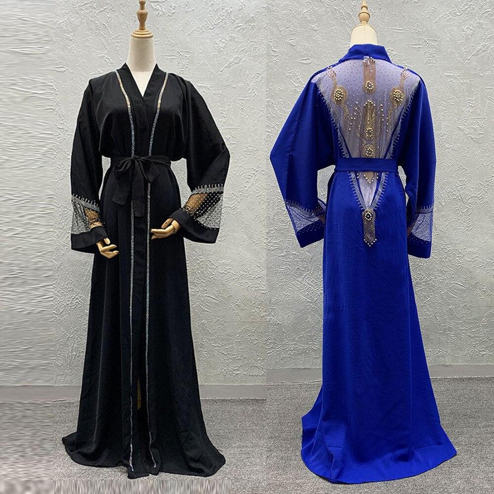 Eid Ramadan Kaftan Dubai Arabic Abaya Kimono Cardigan Hijab Muslim Dress Turkish Islam Clothing African Dresses For Women Niqab