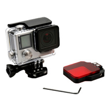 Underwater Diving Filter Lens Cover for GoPro Hero 4 3+ Housing Case Sports Camera Waterproof