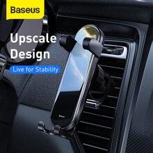 Suporte vertical do telefone da montagem do carro do suporte do telefone da gravidade de baseus para o telefone móvel de 4.7 6.5 polegadas para o suporte da gravidade de android para o iphone