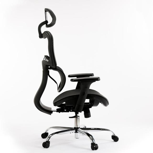 SMUGDESK Ergonomics Mesh Computer office Chair High Back Desk Chair with Adjustable Headrest and Armrest 4