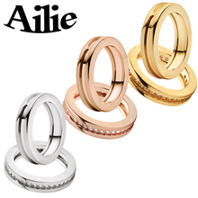 Ailie high quality fit Bulgaria 925 sterling silver ring fashion classic  jewelry rose gold for lady couple ring wedding gift недорого