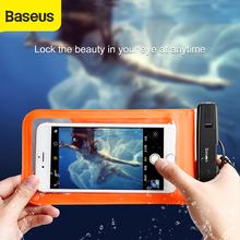 Baseus 6 Universal Waterproof case For iPhone X 6S holder for phone on hand porta celular para running bag on hand for phone