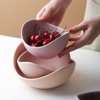 FARWIX Лотос керамическая чаша посуда и тарелки наборы Творческая Фруктовая тарелка домашний Декор набор для хранения фруктов набор керамиче...