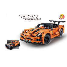 593pcs 2 Styles Car Model Technic Orange Building Blocks Sports Car Compatible with City Car Bricks Toys For Gifts