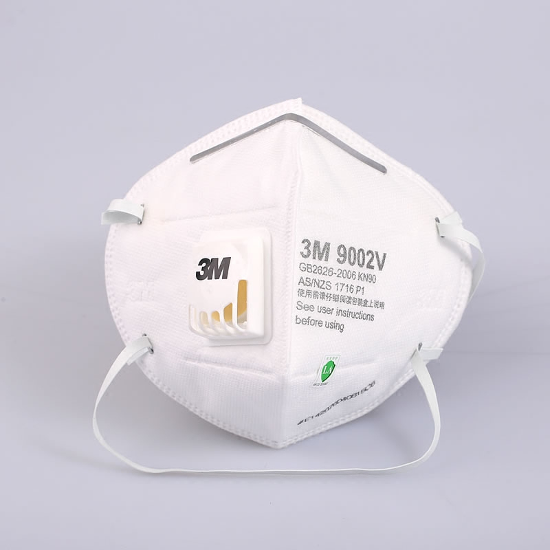 3M  9002V+ KN95 Face Mask Anti-fog Particulate Respirator Anti Influenza Breathing Valve Adult Safety Masks PM2.5