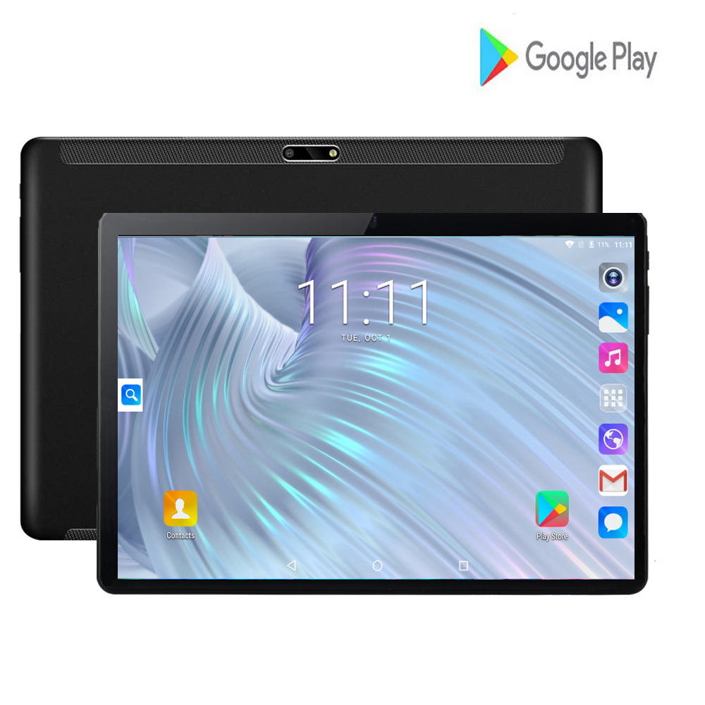 2020 New Design 10 Inch Tablets Android 9.0 OS 2GB + 32GB ROM Dual Camera 8MP SIM Tablet PC Wifi GPS 3G Mobile Phone Pad 10.1