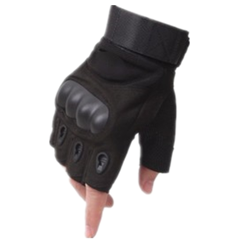 Men's Tactical Fingerless Gloves Military Army Paintball Airsoft Bicycle Motocycle Combat Hard Knuckle Half Finger Gloves Men