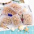 1 коробка, натуральная морская звезда, сделай сам, Пляжное свадебное украшение, ремесла, домашний декор, эпоксидная смола 1-5 см