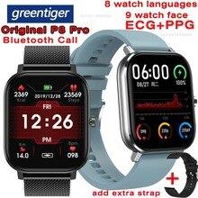 Greentiger DT35 Điện Tâm Đồ PPG Đồng Hồ Thông Minh Bluetooth Gọi Thể Dục IP67 Chống Nước Đo Nhịp Tim Huyết Áp P8 Pro VS DT78