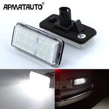 2pcs Canbus Led Number Plate Light For Lexus LX470 LX570 Toyota Land Cruiser 100 200 Prado 120 Reiz 4D Mark X License Plate Lamp