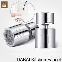 Youpin DABAI mutfak musluk havalandırıcı su difüzör Bubbler çinko alaşımlı su tasarrufu filtre memesi musluk bağlantısı çift modlu