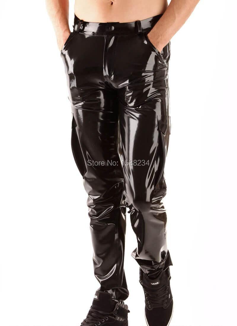 Latex homme armée JEANS avec poche en caoutchouc pantalon clients en caoutchouc Jeans personnalisé