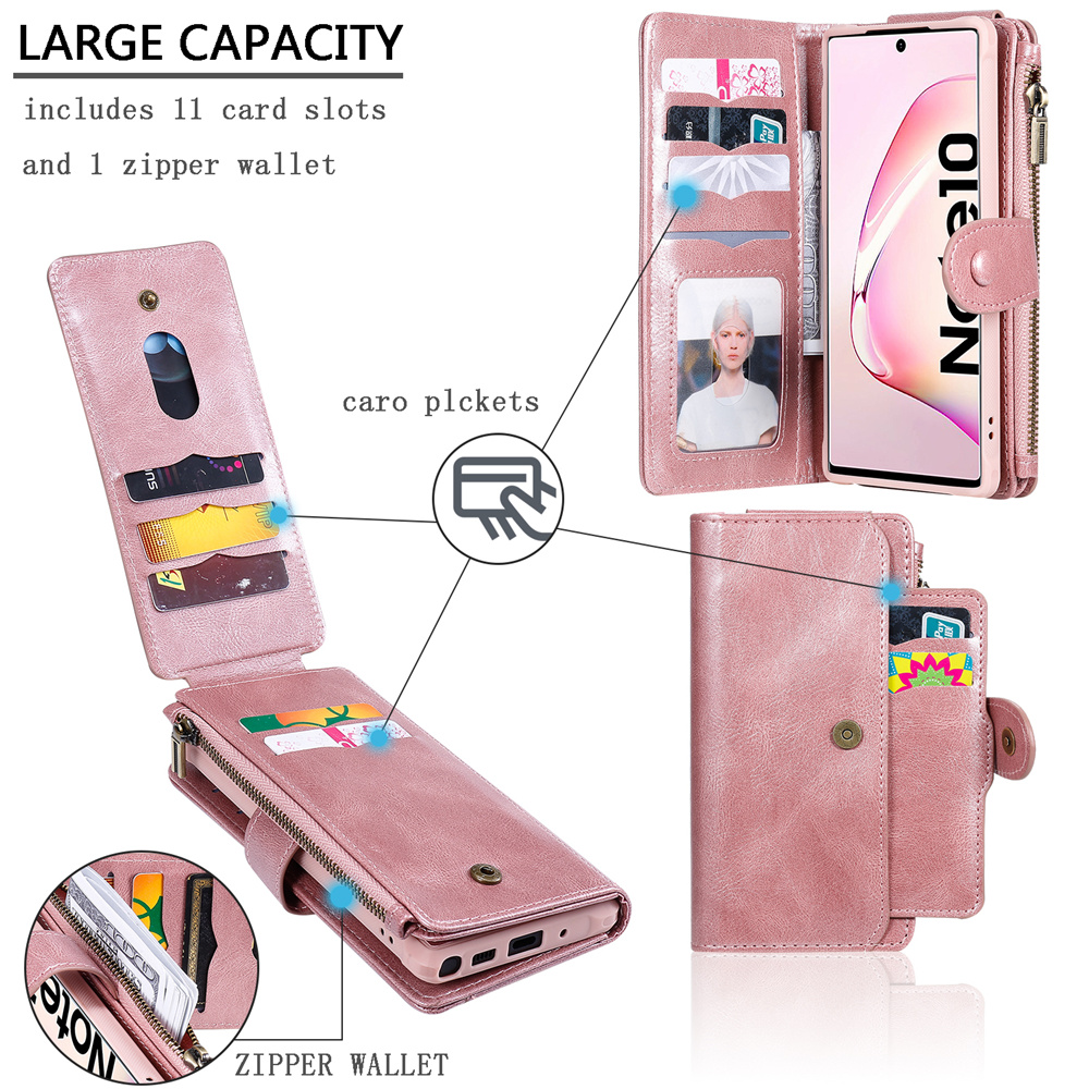 Luxury Detached Wallet For Samsung S20 Ultra Leather Flip Case For Samsung Galaxy S8 S9 S10 E 5G Note 8 9 10 + Plus Phone Cover