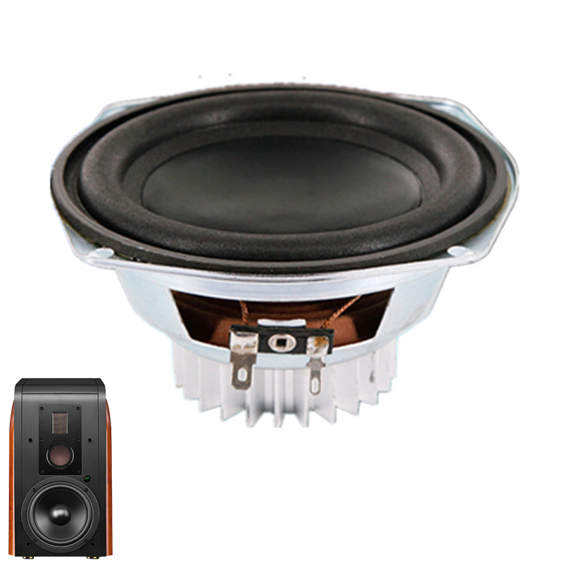 LEORY 5 Inch 30W 6 Ohm Magnetic Speakers Super Bass Subwoofer Neodymium Car Speaker Horn