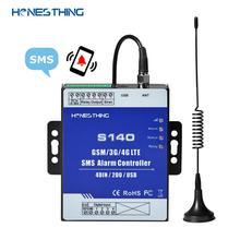 HonesThing-جهاز إنذار GSM SMS 3G 4G ، مع 4 مدخلات رقمية ، مرحل تحكم عن بعد ، مستوى خزان الوقود ، كشف تسرب المياه ، إنذار S140