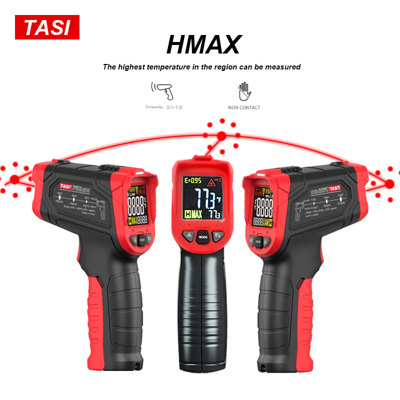 Image 3 - TASI 880 Degrees Celsius Colorful Display High Temperature Infrared Laser ThermometerTemperature Instruments   -