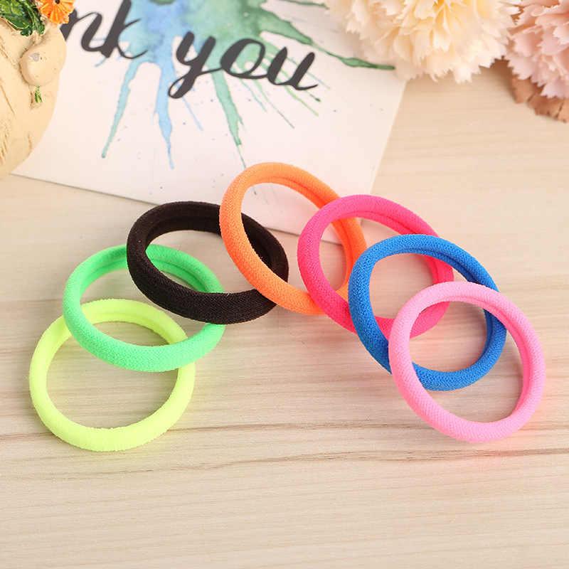 10 sztuk kobiety dziewczęta 4CM elastyczna opaska do włosów kolory nylonowe opaski Gum pałąk Holder opaski gumowe kucyk Scrunchie włosów akcesoria